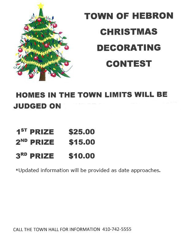 town events town of hebron christmas decorating contest - Christmas Decorating Contest